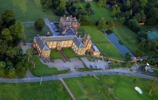 Vale Royal Abbey | Aerial view
